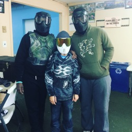 First time paintballing!