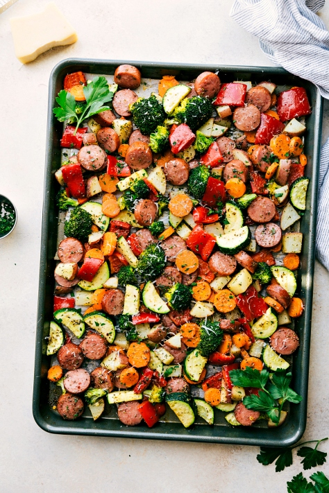 One-Pan-Sausage-Veggies-with-parmesan